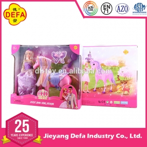 8209 high quality girl doll with fairy horse
