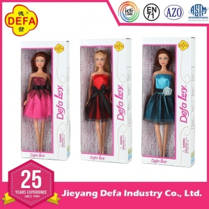 8136 custom real feellike 11.5 inch plastic bendable doll with clothes