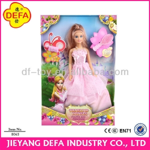 8063 DEFA LUCY 11.5 Inch Plastic Beautiful Princess Dress Up Game Doll